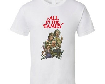 All In The Family Archie Bunker Caricature Tv Show T Shirt