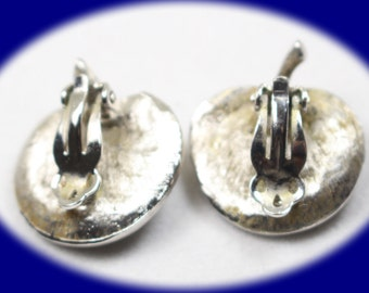 Vintage Clip On Earrings  Silver Plated Clip On Earrings  Vintage Earring Statement Earrings Prom Earrings Mother Gift