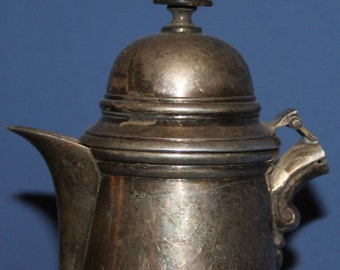 Vintage Silver Plated Teapot Coffee Pitcher