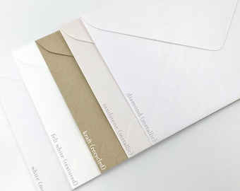 "5x7""/A7 Invitation Envelopes 130mm X 185mm (Pack of 10)"