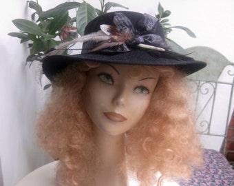 funky, black, old hat