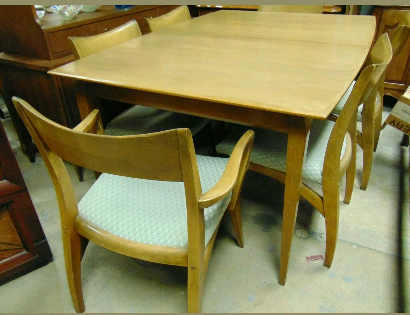 set china cabinet and dining room table with 6 chairs by