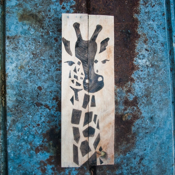 Giraffe print giraffe home decor safari decor by simplypallets African elephant home decor
