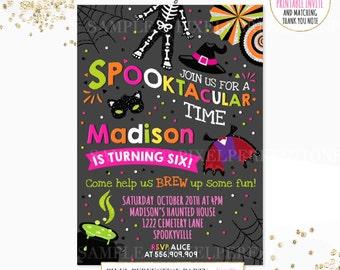 Halloween Birthday Invitation Spooktacular Birthday Invitation Costume Party Halloween Birthday Invite Spooktacular Birthday Party Invite