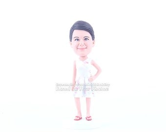Christmas gifts for her- personalized birthday gift for mom- custom chirstmas present for wife- funny bobblehead doll gift for women