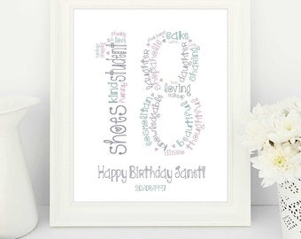 18th birthday gifts, 18th birthday gift, 18th birthday present, 18th birthday poster, 18th birthday personalised, personalised 18th birthday