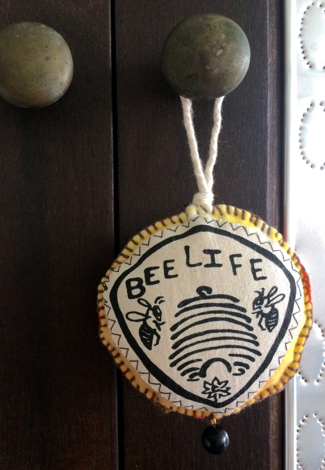 Beehive ornament - Handmade Beehive Ornament Bee Lover Bee Christmas Ornament Save The Bees Bee Felt Ornament Honey Bee Ornament Beehive State