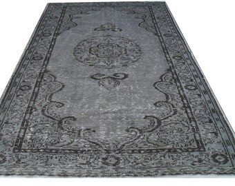 Over dyed Grey Rug