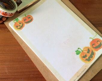 Watercolour Jack o' Lantern Writing Paper-Stationery