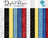 White Snow Princess Digital Scrapbooking Paper Pack, Buy 2 Get 1 FREE. Instant Download