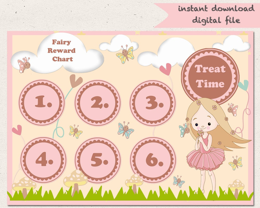 potty training chart fairy reward chart girls potty training toilet training good girl homework sleep chart fairy garden printable a4 behaviour chart
