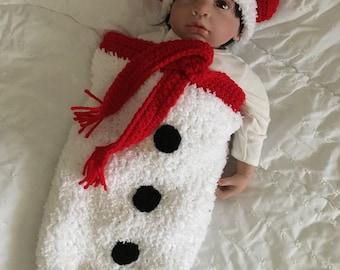 snowman cocoon set