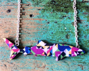 Shark Necklace / Whale Shark Necklace - Kaleidoscope