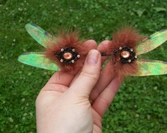 OOAK beautiful soft romantic iridescent dragonfly fairy wings RD6