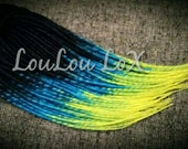50 DE custom smooth triple transitionals synthetic dreads