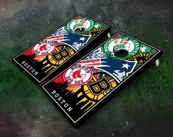 Boston Teams Cornhole Boards