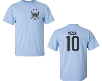 Argentine Soccer Player Lionel Messi #10 Men's Tee Shirt 1451