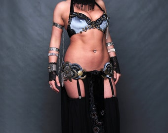 Diana Bastet  Bloomers-Stocking + Skirt in one,Dark Fusion,Tribal fusion ,Gothic Fusion. ALL SIZES for ORDER