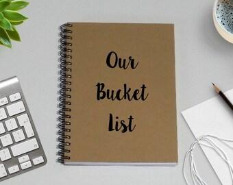 Writing Notebook Journal - Our Bucket List - 5 x 7 Journal, Notebook, Sketchbook, Diary, Scrapbook, Writing Journal, Friendship Notebook