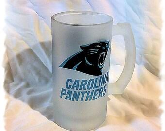 Carolina Panthers Frosted 16 ounce Beer Mug