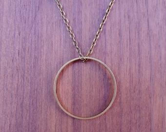 Geometric necklace circle