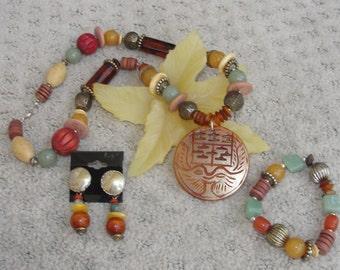 3 Piece Multi-Colored Necklace Set