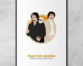 Toast of London | Matt Berry | Minimal Artwork Poster