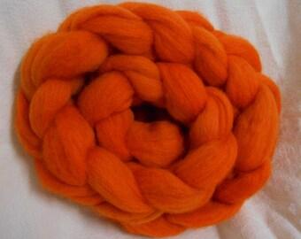 Handdyed Wool Top CC16/76 Citrus Orange
