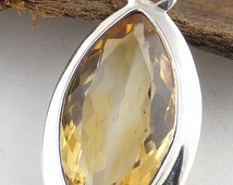 JEWELRY in CITRINE pendant stone natural chakra plexus solar protection lithotherapy care minerals qc15.2 esotericism