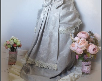 white and gray wedding outfit, steampunk, Victorian, Rococo, Baroque, Renaissance
