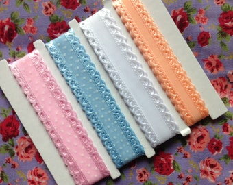 Pastel craft ribbon, pack of 4. Crafting, sewing and scrap booking.