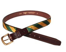 Green and Gold Stripe Belt