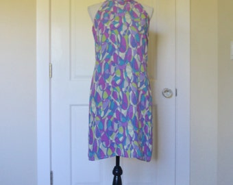 Retro 60s Halter Dress