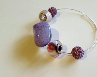 Small beaded wire bracelet