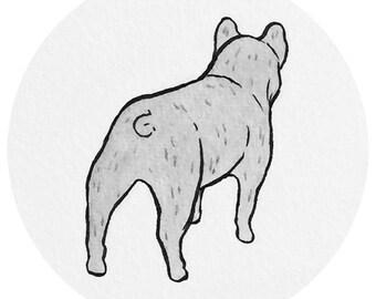 dog butt sticker