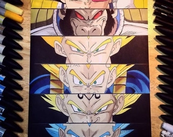 "Anime Eyes: Vegeta - Dragonball Z 8x12"" Print"