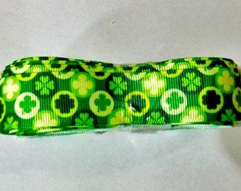 Clover Leaf Grosgrain Ribbon - Craft - Ribbon - 1 Yard