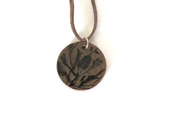 Wood burn necklace, handmade necklace, pendant necklace, woman's jewelry, OOAK jewelry, wood necklace, Pyrography, fashion accessory