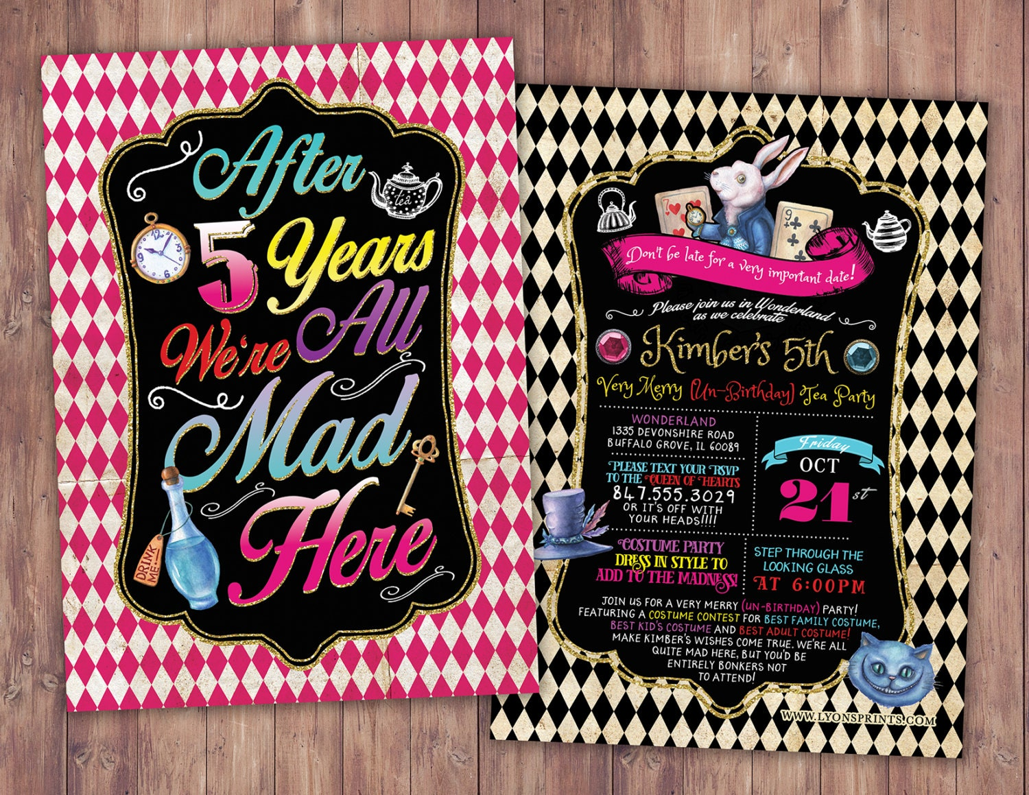 ANY AGE / Mad Hatter Tea Party, Alice in Wonderland Invitation ...
