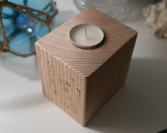 Wooden Candle Holder - Recycled