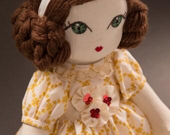 Pauline - Handmade Cloth Doll