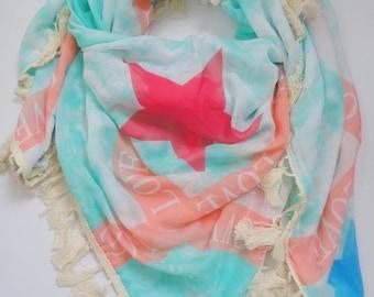 Star scarf mint