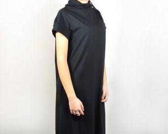 Extra long dress/ maxi dress/ loose black dress.