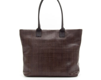 Victoria handbag leather woven
