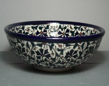Vintage Middle Eastern Bowl/Turkish Bowl/Eastern Pottery/Boho Wall Hanging/Middle Eastern Design/Rustic Style/Boho Chic/Bohemian Decor