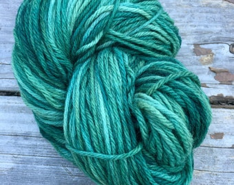 Hand dyed worsted weight yarn