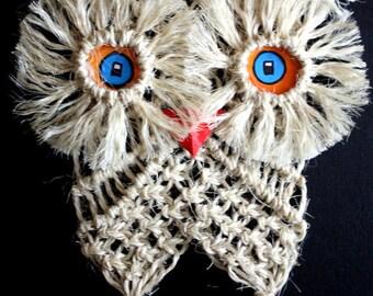 MACRAME Jute Owl Wall Hanging