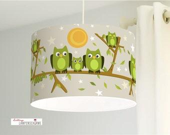 Lampshade, children lamp, owls