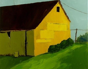 Yellow Farm Oil Painting