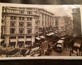 Vintage Postcard - London, Oxford Circus. Excellent condition!